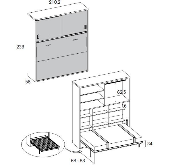 cama rimobel h414 tarifa
