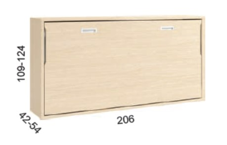 CAMA ABATIBLE HORIZONTAL 90 AD