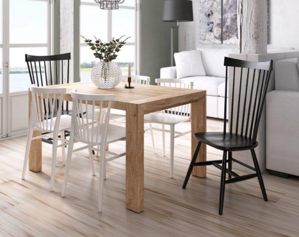 mesa moon pata deslizante madera