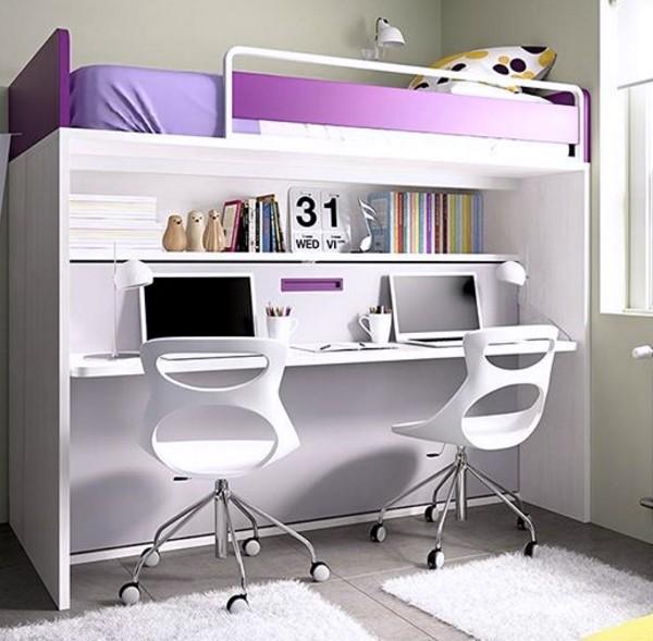 Litera con cama abatible escritorio 90x190 - Litera abatible con escritorio ...