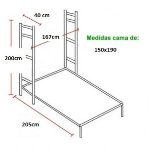 CAMA ABATIBLE VERTICAL CMB 150×190.*