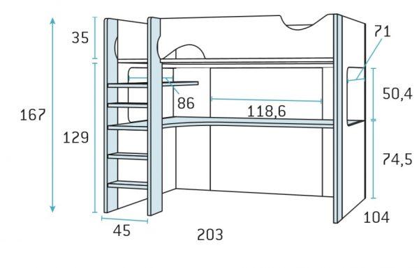 cama alta tecnico