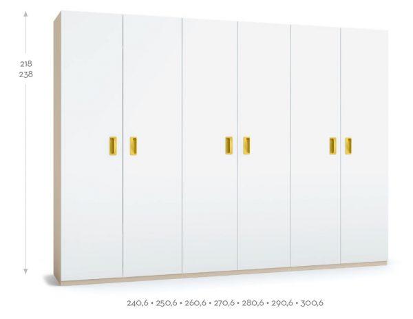 armario 6 puertas BSC