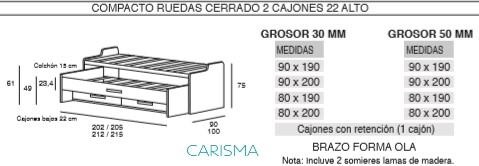 CAMA COMPACTA ONI7