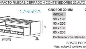 CAMA COMPACTA ONI8