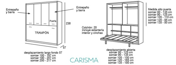 CAMA ABATIBLE HORIZONTAL ONI62
