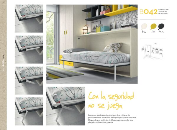CAMA ABATIBLE HORIZONTAL B042