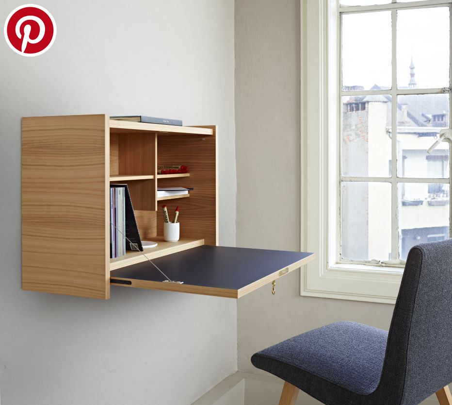 Escritorio abatible para que tu home office sea más práctica.