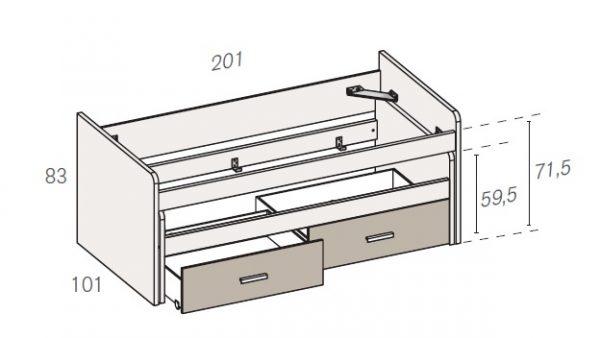 cama compacta 418 rimobel